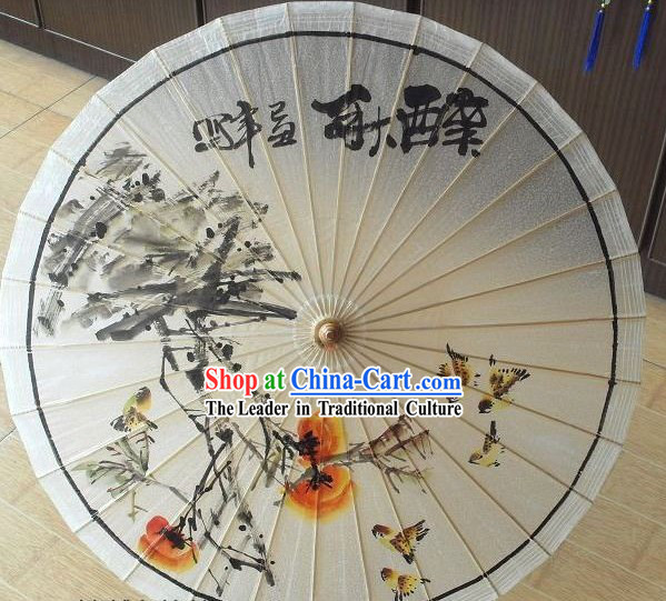 Chinese Hand Made and Painted Autumn Umbrella