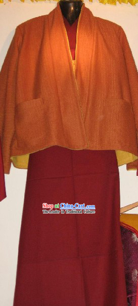 Chinese Tibetan Monk Uniform Complete Set