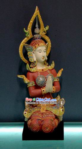Traditional Asia Thai Goddess Statue