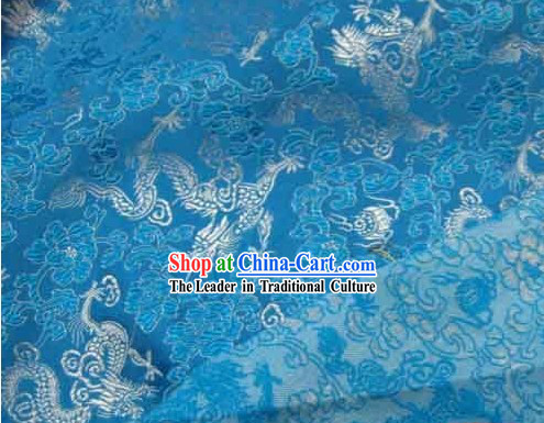 Dragon Design Silk Fabric