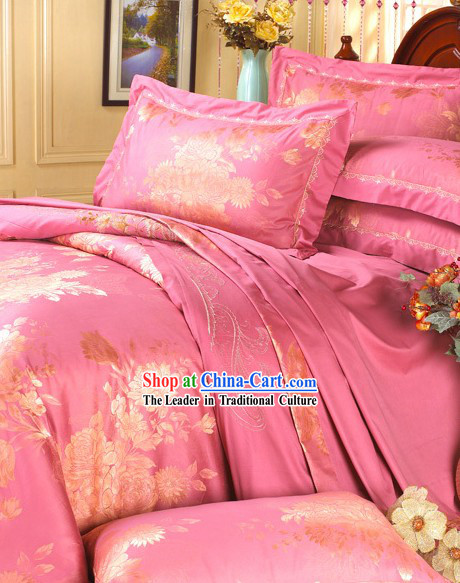 Romantic Pink Wedding China Bedrooms Set