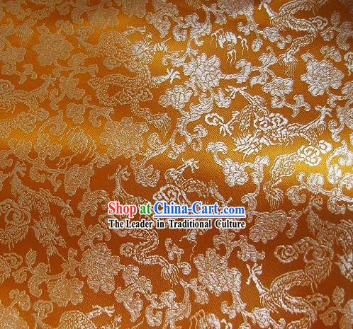 Traditional Dragons Brocade Fabric