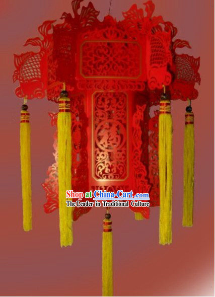 Chinese Papercut Red Paper Lanterns