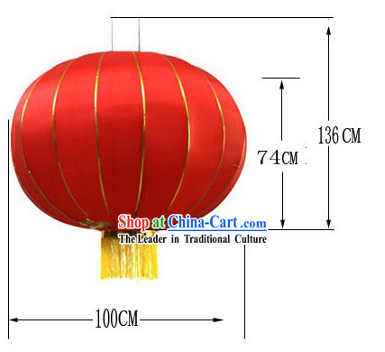 59 Inch Large Traditional Red Lanterns / Large Outdoor Lantern