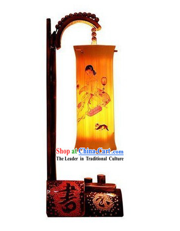 Chinese Classic Bamboo Table Lanterns