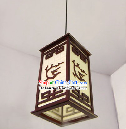Chinese Carved Dragon Ceiling Lantern