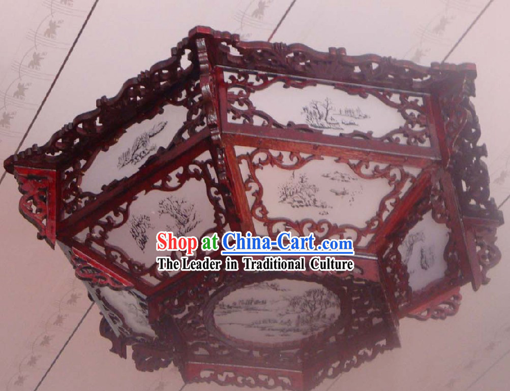 Chinese Traditional Landscape Ceiling Lantern