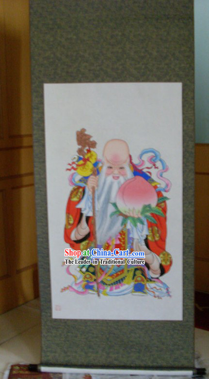 Yangliuqing Folk Painting _ Chinese New Year Paintings - Longevity