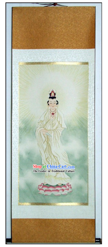 Chinese Traditional Buddha Scroll Painting