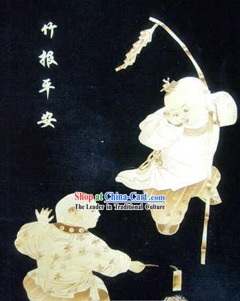Traditional Chinese Grain Painting - Spring Festival