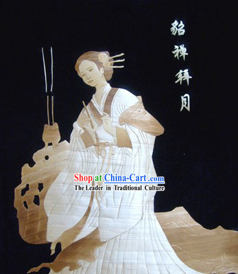 Traditional Chinese Wheat Painting - Diao Chan