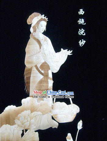 Traditional Chinese Wheat Straw Art Painting - Xi Shi