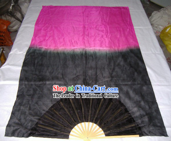 Chinese Traditional Bamboo and Silk Long Fans