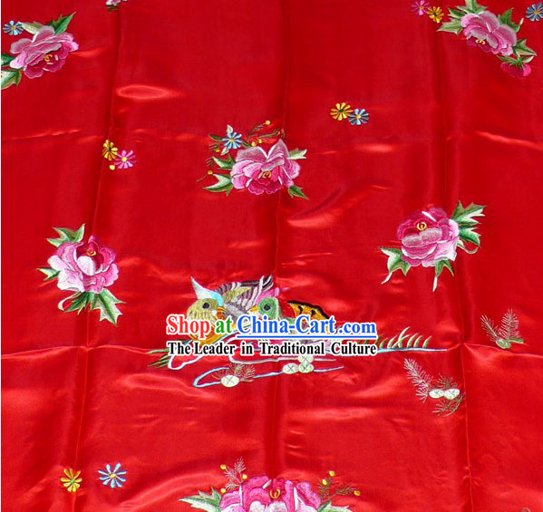 Chinese Traditional Silk Wedding Bedcover - Mandarin Ducks