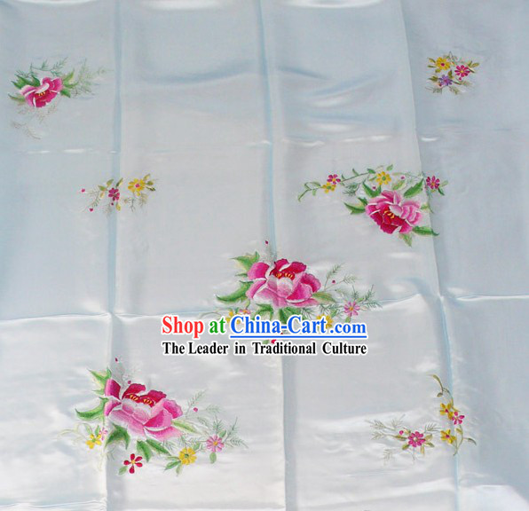 Chinese Embroidery Silk Bedcover - Peony