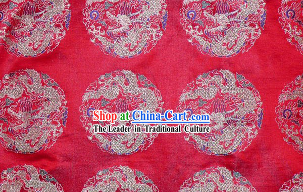 Top Rui Fu Xiang Pure Textile Dragon Silk Fabric