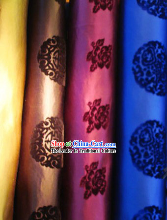 Top China Traditional Mandarin Silk Velvet Fabric - Calligraphy