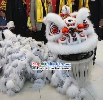 Happy Celebration Top Traditional Handmade Long Wool Fur Lion Dance Costumes Complete Set