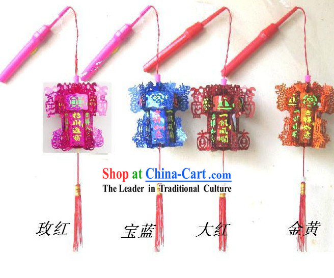 Traditional Chinese Happy Celebration Hexangular Lantern _ Mini Palace Lantern