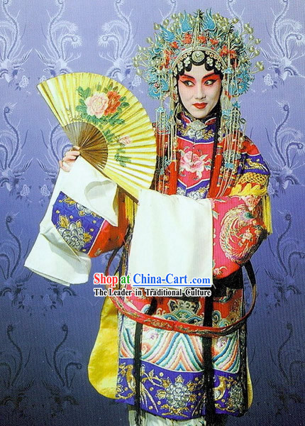 Peking Opera Phoenix Robe and Crown Complete Set
