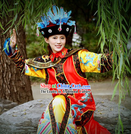 Ancient Chinese Qing Dynasty Empress Clothing Complete Set