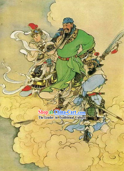 Chinese Film and Stage Performance and Photo Studio Traditional Painting Prop - Guan Yu Portrait