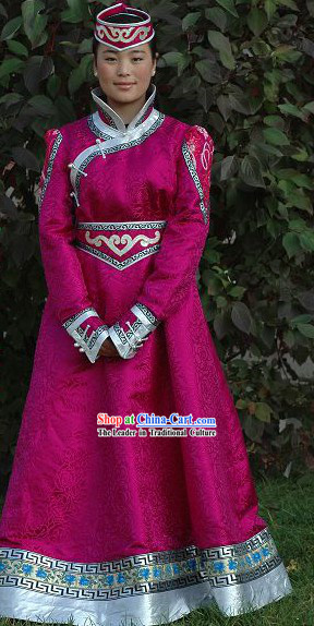 Mongolia Traditional Handmade Long Costume