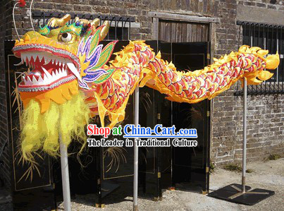 Competition and Parade Dragon Dance Costumes for Four People