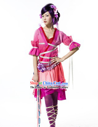 Ancient Swordswoman Costumes Complete Set