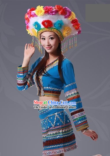 Chinese Taiwan Gaoshan Clothing Set