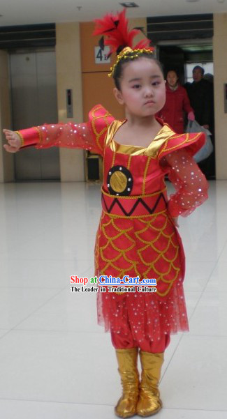 Chinese New Year Folk Dance Costume Set for Children