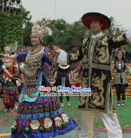 Traditional Miao Minority Wedding Dress 2 Complete Sets