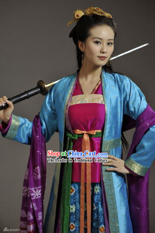 Chinese Guzhuang Beauty Costume Complete Set