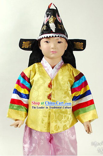 Traditional Korean Birthday Hanbok Dress Set for Boys