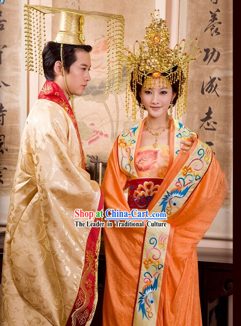 Supreme Chinese Emperor and Empress Clothing Complete Set for Men and Women