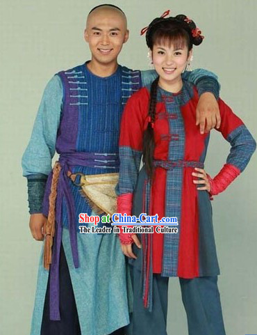 Ancient Chinese Swordsman Costumes 2 Complete Sets