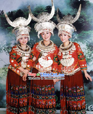 Traditional Chinese Miao Costumes Complete Set
