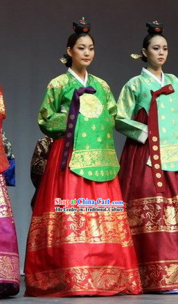 Ancient Korean Palace Hanbok Clothes Complete Set for Women