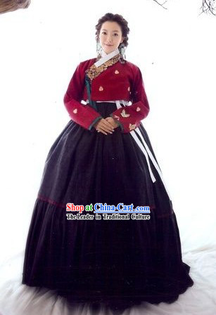 Traditional Korean Hanbok Clothes Complete Set for Women