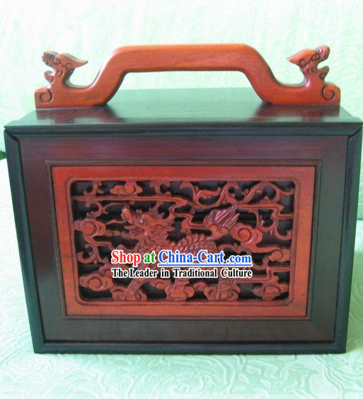 Chinese Classical Kylin Mahjong Wooden Box