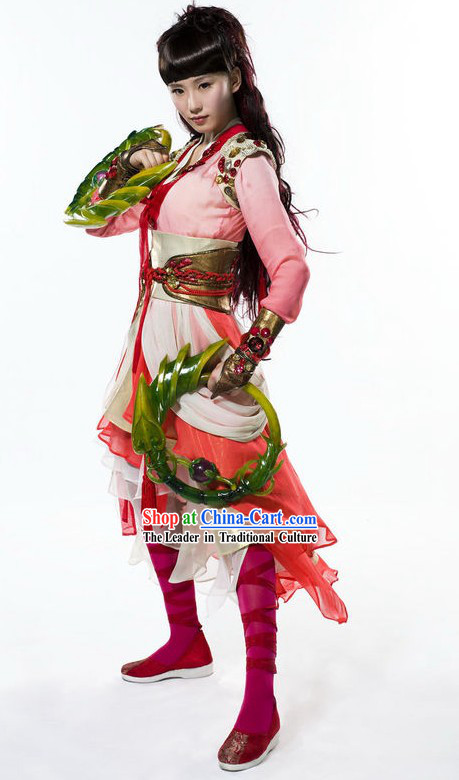 Ancient Chinese Women Kung Fu Costume Set for Cosplay