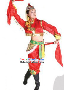 Traditional Mongolian Chopsticks Dance Costume Complete Set
