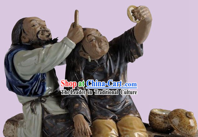 Chinese Classical Shiwan Collectible - Love