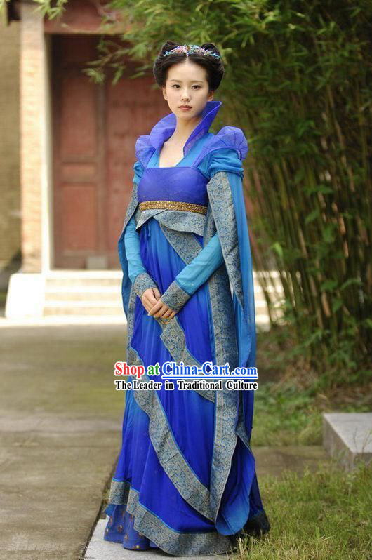 Ancient Chinese Fairy Blue Costumes