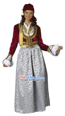 Amalia Lux Traditional Greek Dance Costume