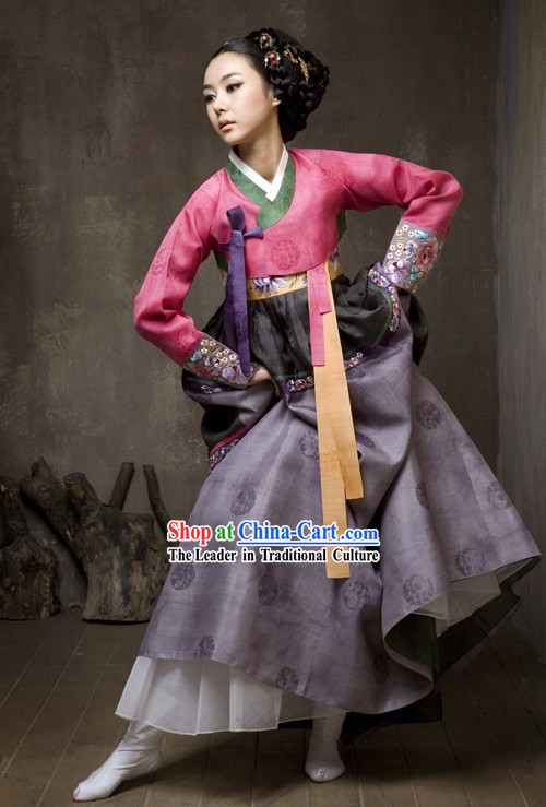 Supreme Korean Traditional Dress Hanbok Complete Set for Women