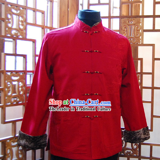 Chinese Traditional Wedding Tang Blouse for Men