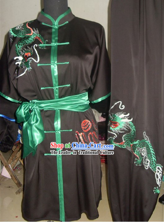 Chinese Dragon Kung Fu Martial Arts Uniform Set for Men