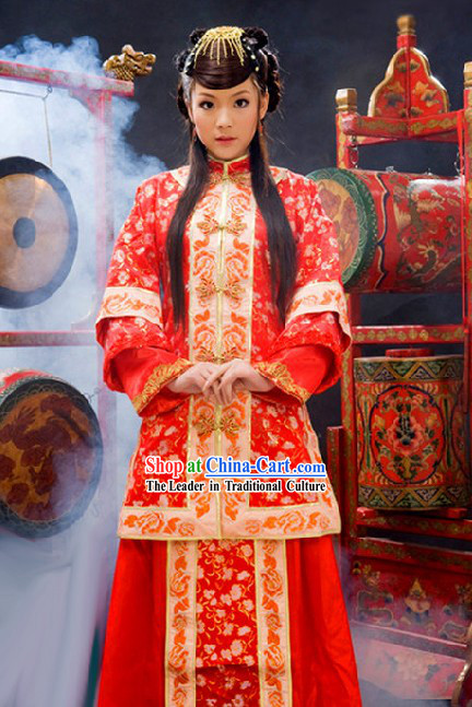 Stunning Chinese Mandarin Wedding Dress for Bride