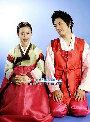 Traditional Korean Hanbok Clothing 2 Sets